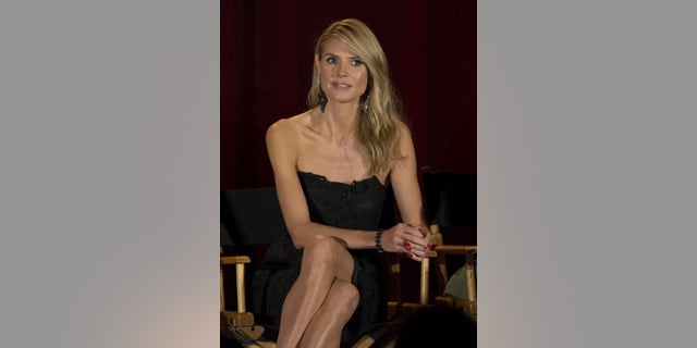 """Judge Heidi Klum attends a panel for the television series """"America's Got Talent"""" during a NBC summer press day in Pasadena, California April 2, 2015."""