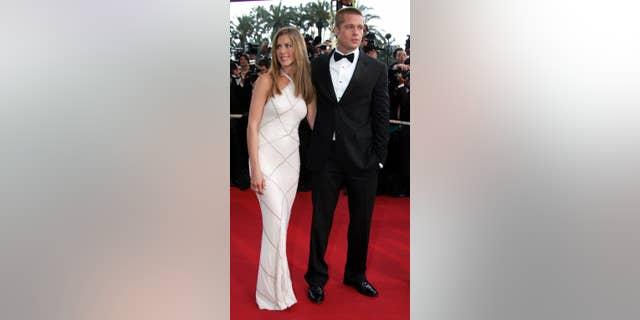Brad Pitt, Jennifer Aniston at the Cannes Film Festival in 2004.