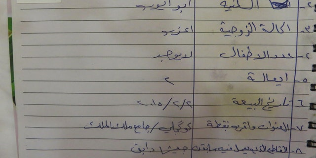 Teen fighter Atheer Ali's entry in an Islamic State registry.