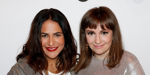 "Lena Dunham apologized after comparing producer Judd Apatow's ""obsession"" with the rape accusations against Bill Cosby to an obsession with the Holocaust. Her comments were made during an interview with Jenni Konner (left) who was also the ""Girls"" showrunner."