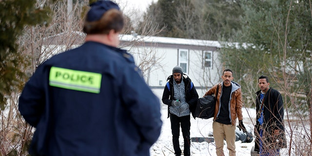 Three men who claimed to be from Sudan are confronted by Royal Canadian Mounted Police.