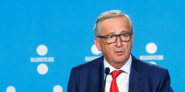 President of the EU Commission Jean-Claude Juncker speaks during a news conference in Tallinn, Estonia, June 30, 2017.
