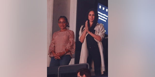 Meghan Markle, right, is pictured with her mother, Doria Ragland, left.