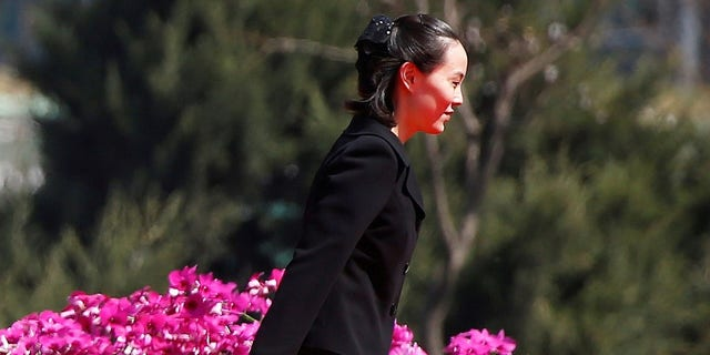 Kim Yo Jong, sister of North Korean leader Kim Jong Un, attends an opening ceremony of a newly constructed residential complex.