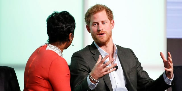 """Prince Harry said on Tuesday that his late mother, Princess Diana, was his """"ideal role model."""""""