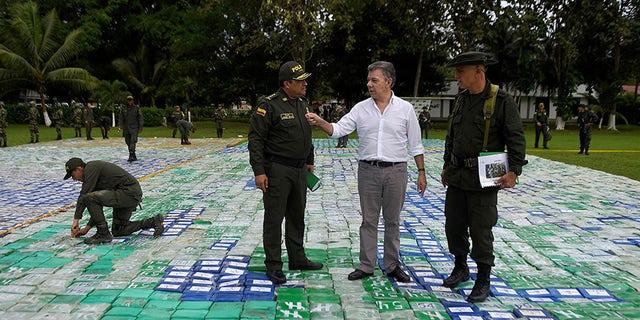 Colombian President Juan Manuel Santos said anti-narcotics officers seized 12 tones of cocaine worth an estimated $360 million.