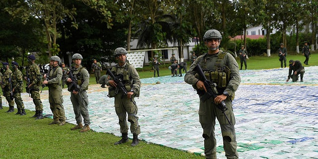 Officials said the drug belonged to the Clan del Golfo, an illegal armed group that has sought to take over drug trafficking operations in zones previously occupied by the Revolutionary Armed Forces of Colombia, or FARC.