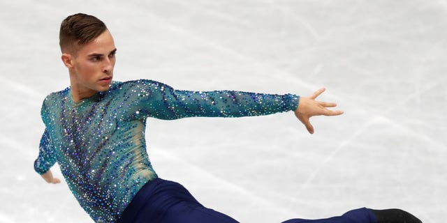 Adam Rippon of the U.S. in action.