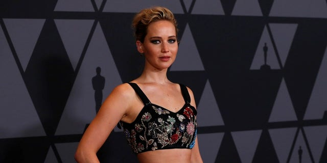 Jennifer Lawrence at the Governors Awards.
