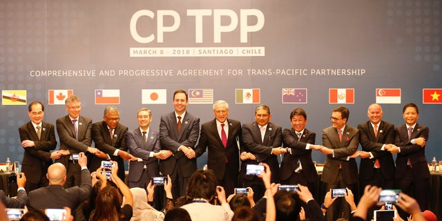 Representatives from 11 nations signed the Trans-Pacific Partnership agreement in March 2018 without the U.S.