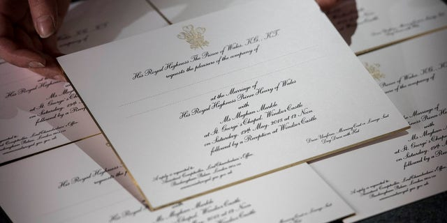 The wedding invitations were sent to some 600 guests for the May 19 ceremony.