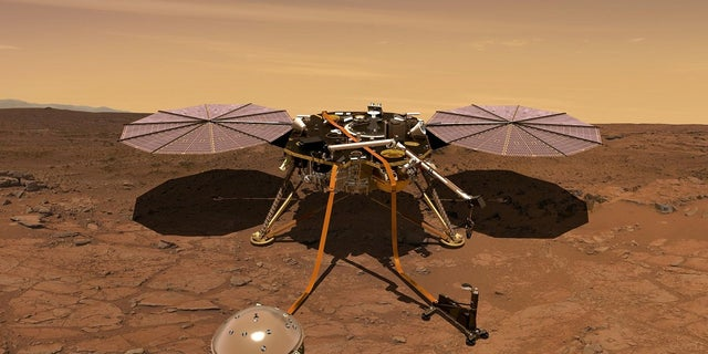 The Mars InSight probe will be used to monitor the environement around the spacecraft, NASA says.