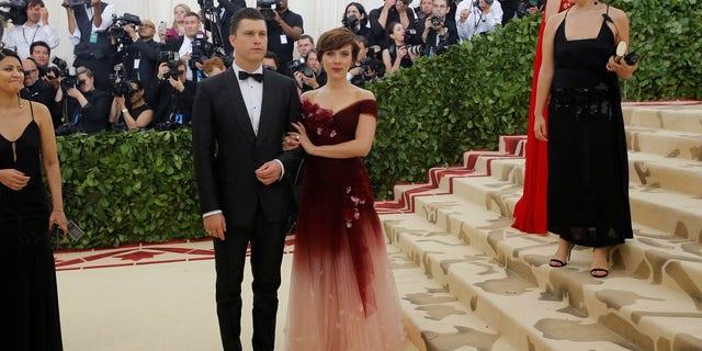 Scarlett Johansson attended the event with boyfriend Colin Jost.