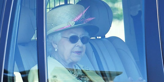 The queen was pictured Sunday morning heading to church a day after the royal wedding.
