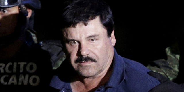 El Chapo after being recaptured in 2016.