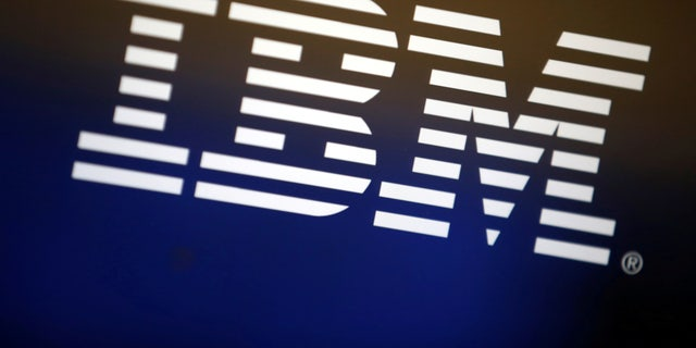 The logo of IBM is seen on a computer screen in Los Angeles, California, United States, April 22, 2016.