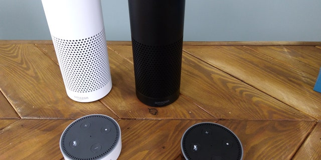 The Amazon Echo, a voice-controlled virtual assistant, is seen at it's product launch for Britain and Germany in London, Britain, September 14, 2016. (REUTER/Peter Hobson)