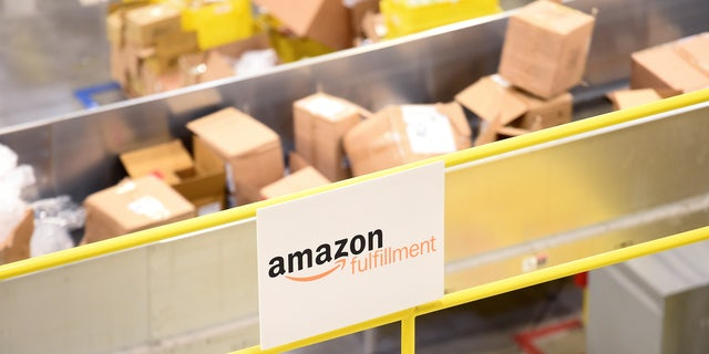 Boxes move along a conveyor belt at an Amazon Fulfillment Center on Cyber Monday in Tracy, California, U.S. November 28, 2016. (REUTERS/Noah Berger)