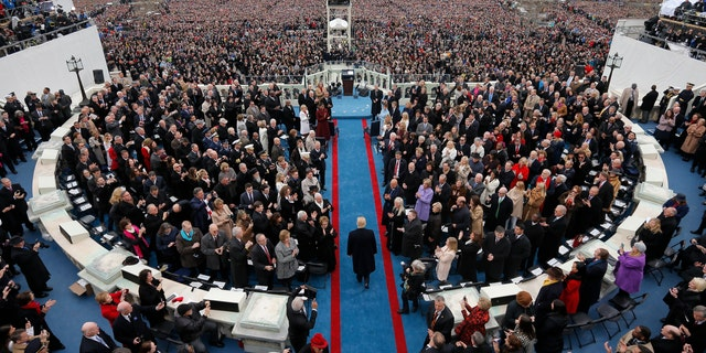 U.S. President-elect Donald Trump arrives for the inauguration ceremonies swearing him in as the 45th president of the United States.