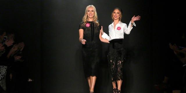 Georgina Chapman at the Marchesa New York Fashion Week show last February.