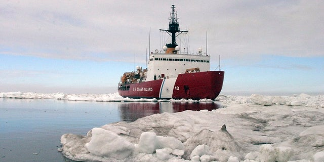 FILE -- Polar Star, the U.S. Coast Guard icebreaker, completes ice drills in the Arctic in this July 3, 2013.