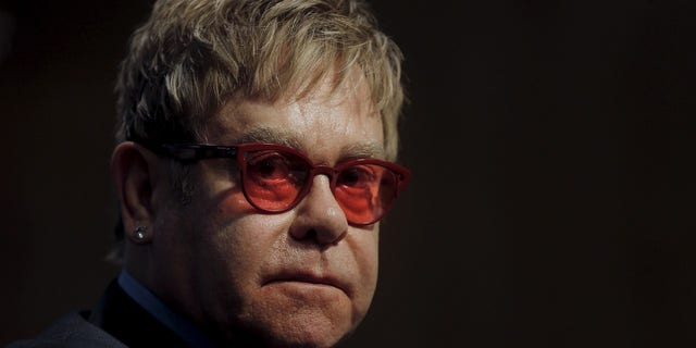 Elton John announced his mother had died.