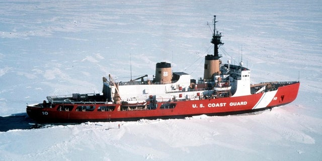 United States Coast Guard Heavy Icebreaker Polar Star (WAGB 10) is shown in this undated photo in Antarctica. President Barack Obama on September 1, 2015 will propose a faster timetable for buying a new heavy icebreaker for the U.S. Arctic, where quickly melting sea ice has spurred more maritime traffic, and the United States has fallen far behind Russian resources.  REUTERS/U.S. Coast Guard/Handout  FOR EDITORIAL USE ONLY. NOT FOR SALE FOR MARKETING OR ADVERTISING CAMPAIGNS. THIS IMAGE HAS BEEN SUPPLIED BY A THIRD PARTY. IT IS DISTRIBUTED, EXACTLY AS RECEIVED BY REUTERS, AS A SERVICE TO CLIENTS - RTX1QL3X