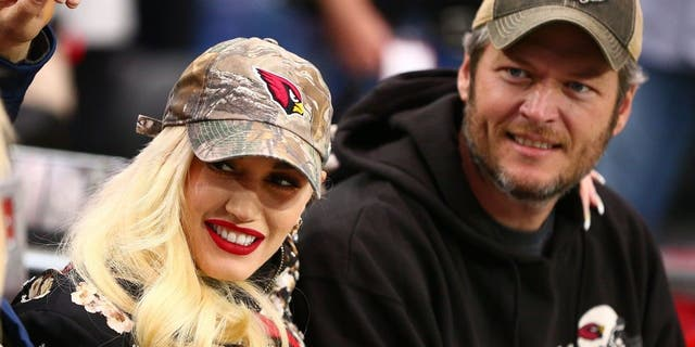 Recording artist Gwen Stefani (left) and country singer boyfriend Blake Shelton.