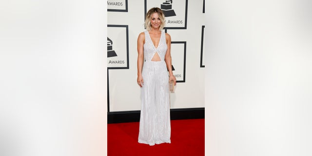 Actress Kaley Cuoco arrives at the 58th Grammy Awards in Los Angeles, California February 15, 2016.  REUTERS/Danny Moloshok - RTX2731H
