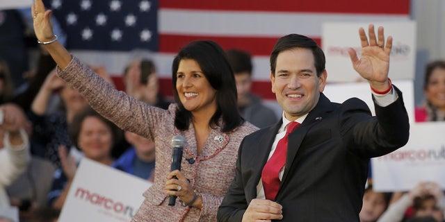 As South Carolina's governor, Nikki Haley endorsed Florida Sen. Marco Rubio for the Republican presidential nomination in 2016.