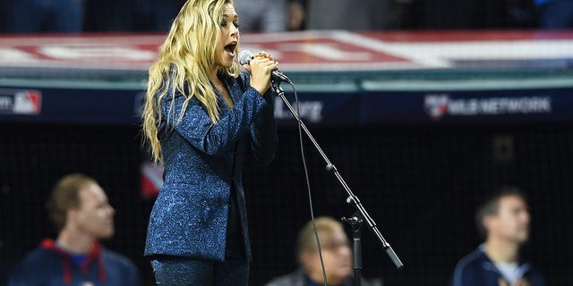 Rachel Platten previously performed the national anthem during the 2016 World Series.