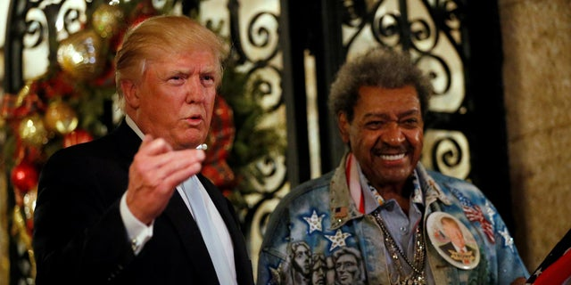 President Trump made his mark on the boxing world in Atlantic City before he became president. He even befriended controversial boxing promoter Don King (right).