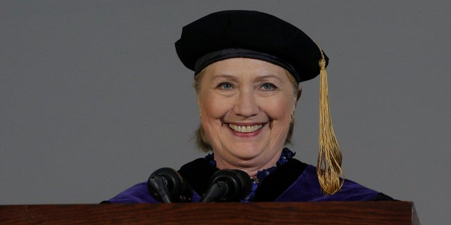 While delivering a commencement address at Wellesley College, Hillary Clinton jabbed President Trump multiple times and compared him to former President Richard Nixon.