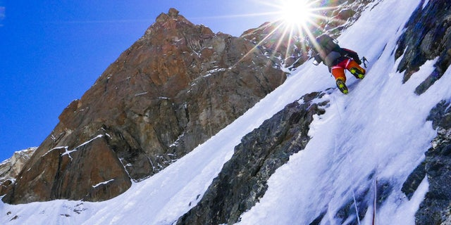 Climbers head toward Camp 2 on the Kinshofer route the day the photographer reviewed the last SMS from Alberto Zerain while climbing Nanga Parbat, Pakistan June 24, 2017.