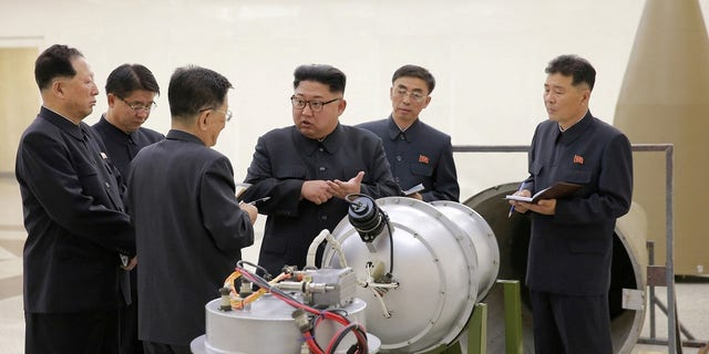 Kim Jong Un is pictured after North Korea's sixth nuclear test in September.