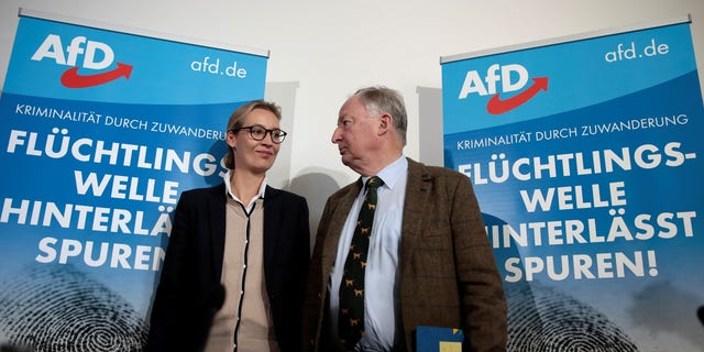 Co-lead AFD candidates Alexander Gauland and Alice Weidel attend a news conference in Berlin, Germany September 18, 2017.REUTERS/Axel Schmidt