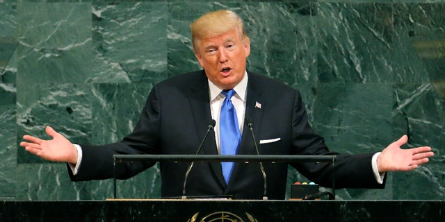 President Donald Trump addresses the 72nd United Nations General Assembly at U.N. headquarters in New York, U.S., September 19, 2017.