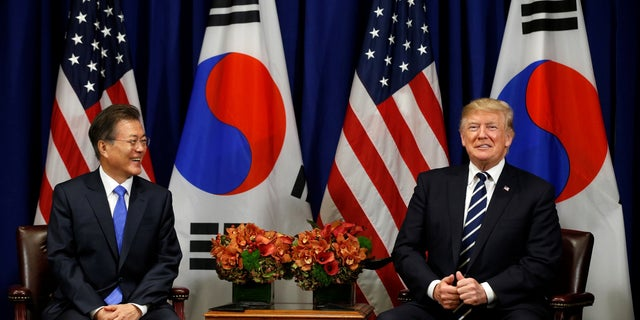 """When meeting with South Korean President Moon Jae-in, President Trump praised the leader for using the word """"deplorable."""" Hillary Clinton called some Trump supporters """"deplorables"""" during the campaign."""