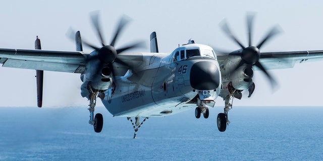 Seen here, a C-2A Greyhound logistics aircraft prepares to land on a vessel in the Mediterranean Sea. Three sailors were lost after one of these aircrafts crashed in the Philippine Sea in November 2017.
