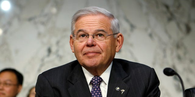 FILE -- Senator Robert Menendez (D-NJ) waits to question Jerome Powell on his nomination to become chairman of the U.S. Federal Reserve during a hearing before the Senate Banking, Housing and Urban Affairs Committee in Washington, U.S., November 28, 2017.