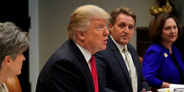 "Sen. Jeff Flake, R-Ariz., accused President Trump of having ""inspired dictators and authoritarians with his own rhetoric."""
