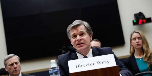 FBI Director Christopher Wray is seen in December 2017.