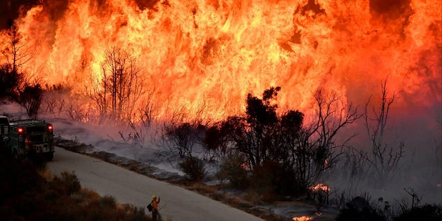Firefighters were able to contain some of the wildfires spreading throughout Southern California.
