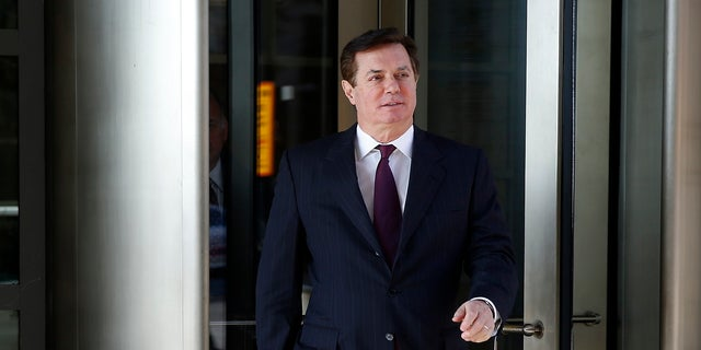 Paul Manafort, former campaign chairman for President Trump, departs after a bond hearing as part of Special Counsel Robert Mueller's ongoing Russia investigation, at a U.S. District Court in Washington.