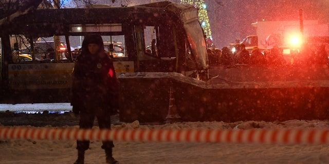Moscow police believe the bus crash was caused by mechanical fault or the driver lost control on the vehicle.