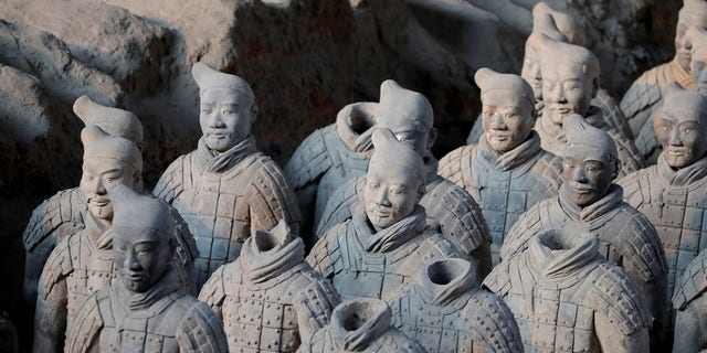 Terracotta Army was built in China's Qin Dynasty.