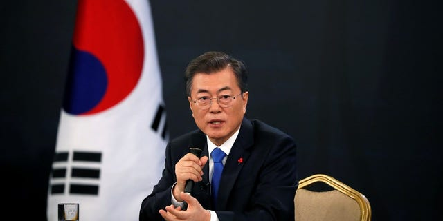 """South Korean President Moon Jae-in said President Trump deserved """"big credit"""" for the talks between the North and the South."""