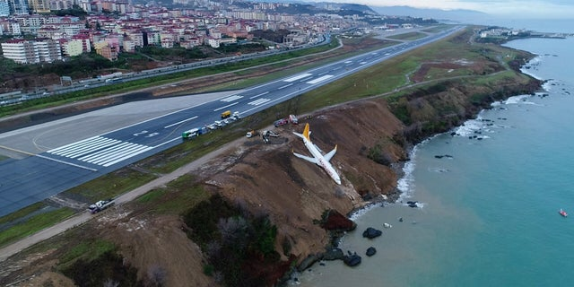No one was injured in the incident. The plane was carrying 168 passengers and crewmembers.