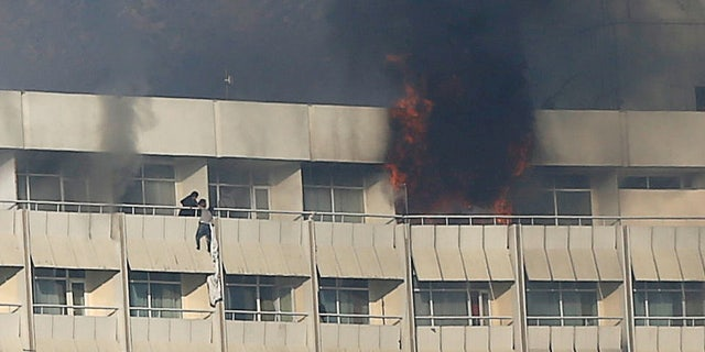 People at Hotel Intercontinental in Kabul were forced to escape after gunmen stormed the building.
