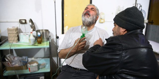More than 20 Syrian civilians were attacked with suspected chlorine gas in Syria on Monday.